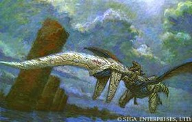 An image of the lake area from Panzer Dragoon's ending