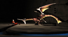 Edge meets the dragon in Basic Wing form.