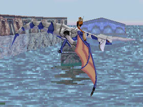 The Blue Dragon in episode 1 of Panzer Dragoon.