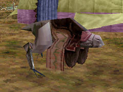 A coolia at the caravan in Panzer Dragoon Saga.