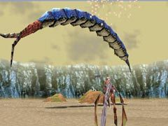 A desert worm from Panzer Dragoon Saga.