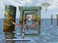 The sunken ruins in episode 1 of Panzer Dragoon.