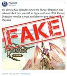 Forever Entertainment Warns Against Pre-Ordering Panzer Dragoon: Remake on PlayAsia