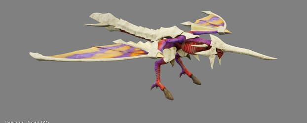 Stripe Wing Model From Panzer Dragoon Voyage Record Revealed