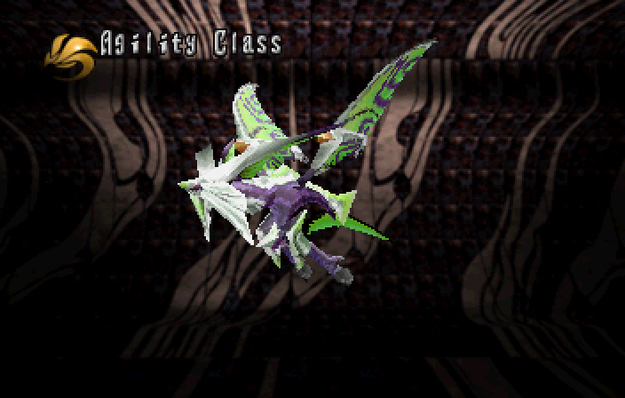 Panzer Dragoon Saga Data on Defeated Enemies Arm Wing Agility Class Screenshot