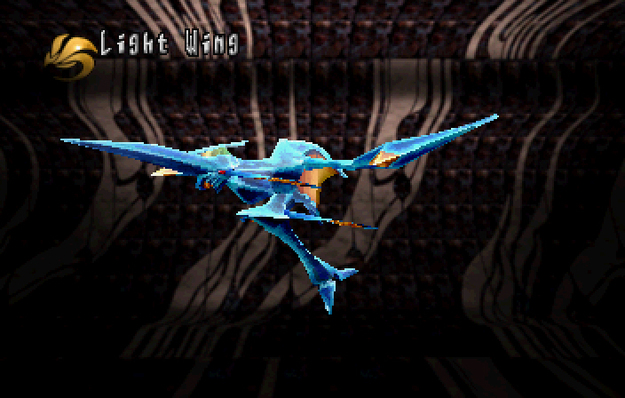 Panzer Dragoon Saga Data on Defeated Enemies Light Wing Screenshot