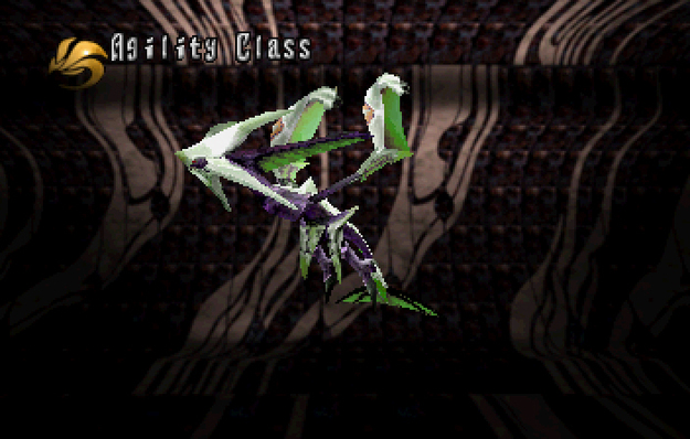 Panzer Dragoon Saga Data on Defeated Enemies Panzer Wing Agility Class Screenshot
