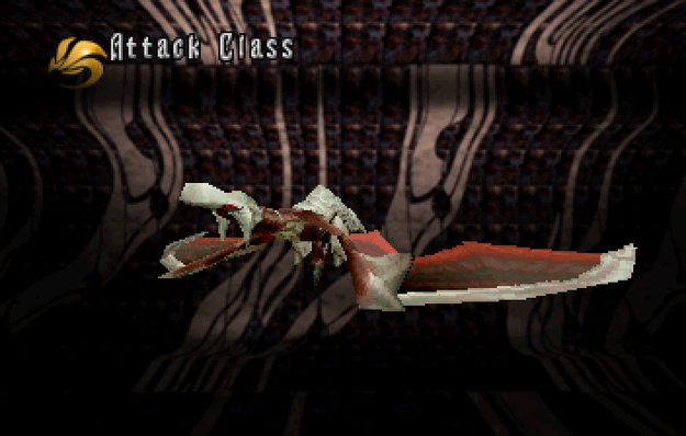 Panzer Dragoon Saga Data on Defeated Enemies Solo Wing Attack Class Screenshot