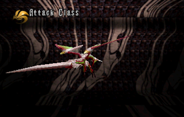 Panzer Dragoon Saga Data on Defeated Enemies Valiant Wing Attack Class Screenshot