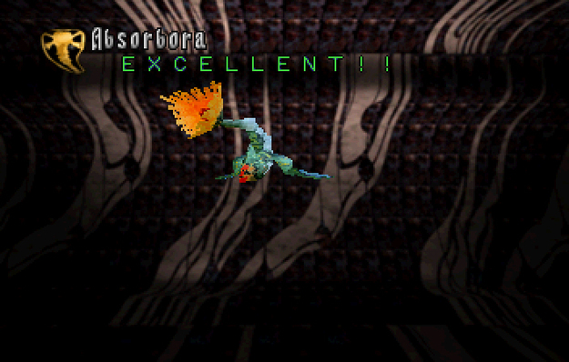 Panzer Dragoon Saga Data on Defeated Enemies Absorbora Screenshot