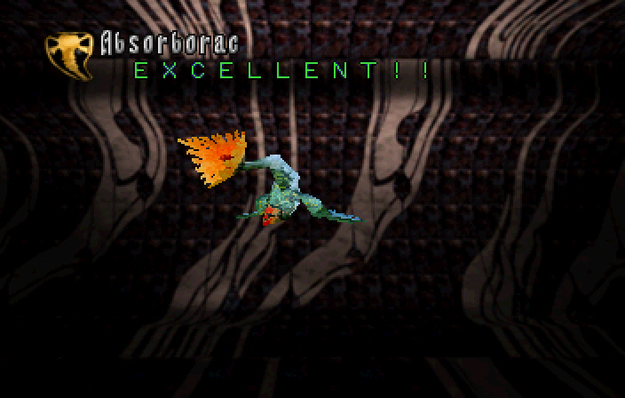 Panzer Dragoon Saga Data on Defeated Enemies Absorborac Screenshot