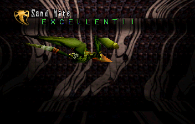 Panzer Dragoon Saga Data on Defeated Enemies Sand Mite Screenshot