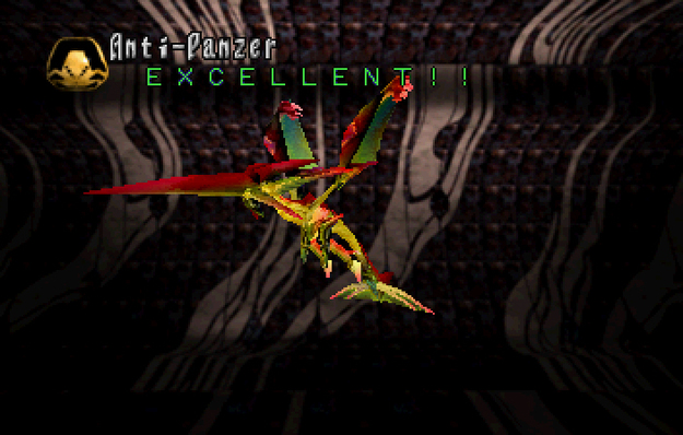 Panzer Dragoon Saga Data on Defeated Enemies Anti-Panzer Screenshot