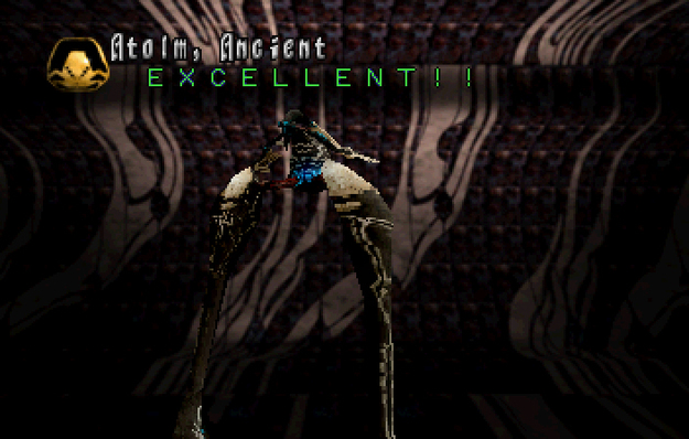 Panzer Dragoon Saga Data on Defeated Enemies Atolm Ancient Screenshot