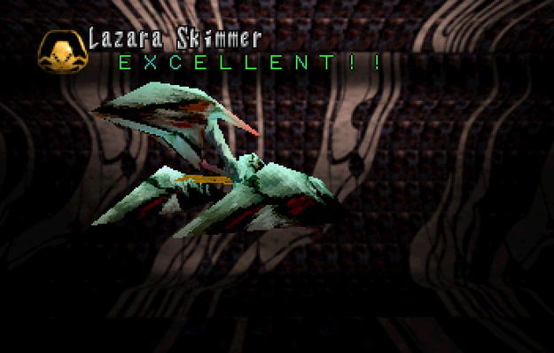 Panzer Dragoon Saga Data on Defeated Enemies Lazara Skimmer Screenshot