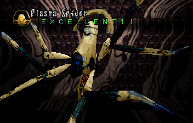Panzer Dragoon Saga Data on Defeated Enemies Plasma Spider Screenshot