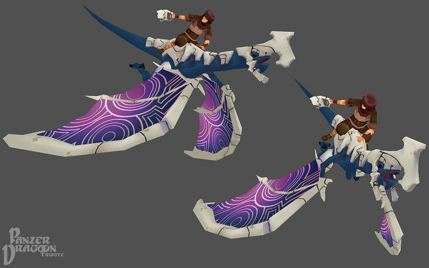 Panzer Dragoon Tribute 3D Dragon and Rider