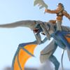 Blue Dragon and Rider Sculpture (1 of 7)