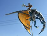 Blue Dragon and Rider Sculpture (2 of 7)