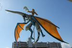 Blue Dragon and Rider Sculpture (4 of 7)