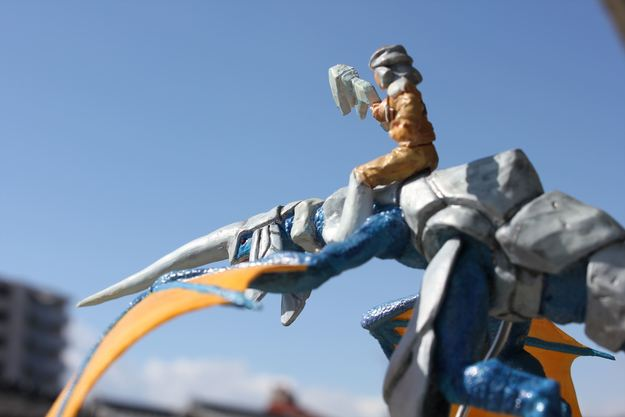 Blue Dragon and Rider Sculpture (6 of 7)