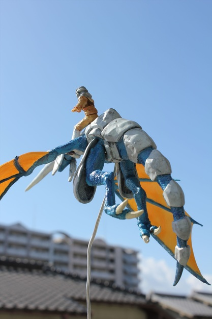 Blue Dragon and Rider Sculpture (7 of 7)