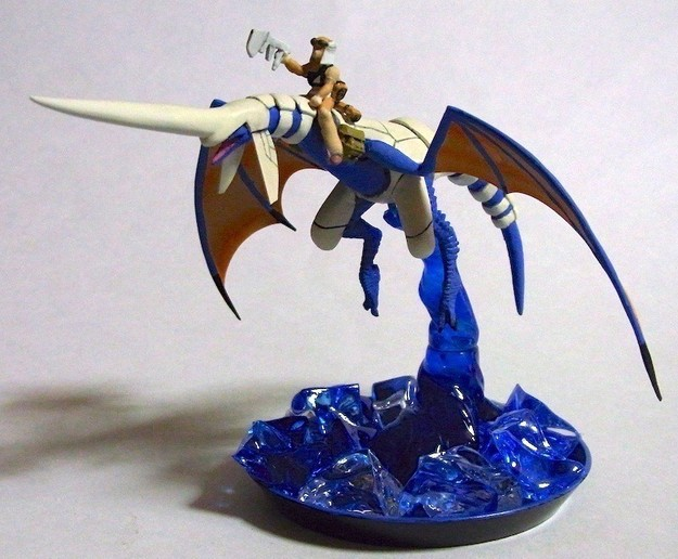 Another Blue Dragon and Rider Sculpture (1 of 5)