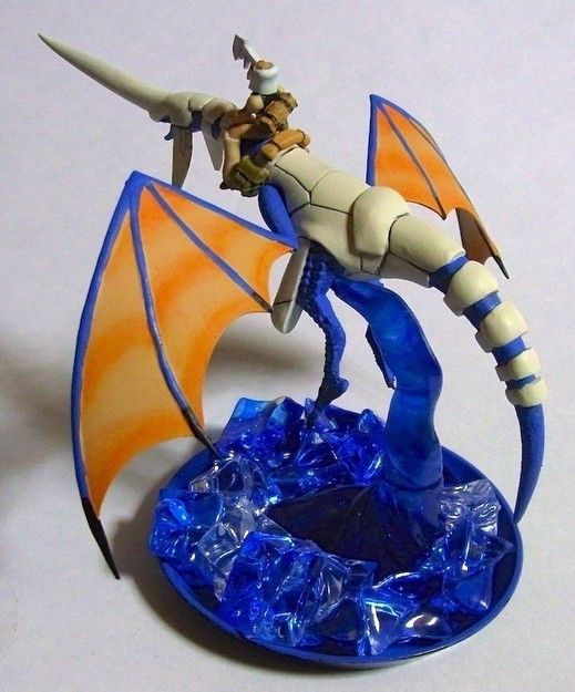 Another Blue Dragon and Rider Sculpture (2 of 5)
