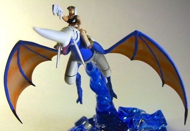 Another Blue Dragon and Rider Sculpture (4 of 5)