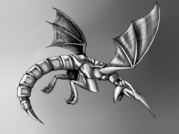 The Blue Dragon (Black and White)