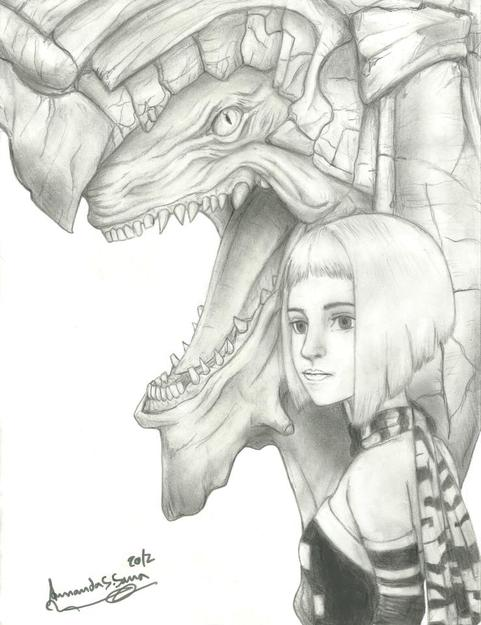 Panzer Dragoon Orta Pencil Sketch