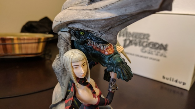 Panzer Dragoon Orta Nonscale Coldcast Statue Closeup (2 of 2)