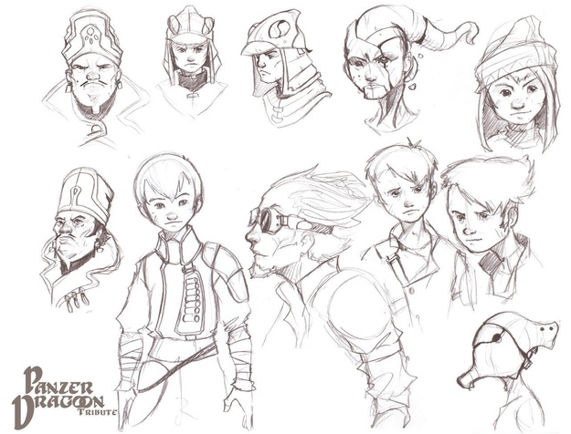 Panzer Dragoon Tribute Characters