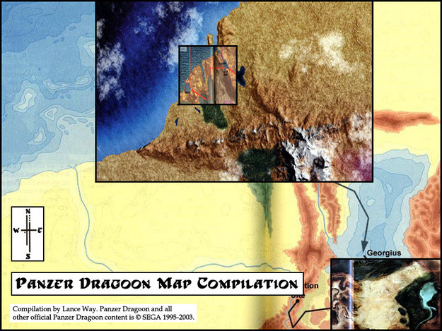 Panzer Dragoon Map Compilation