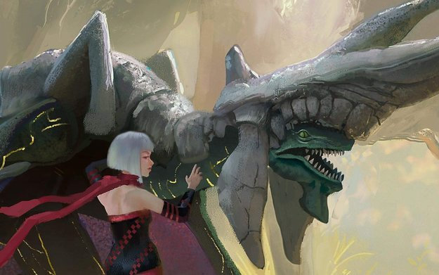 Panzer Dragoon Orta Tribute Painting