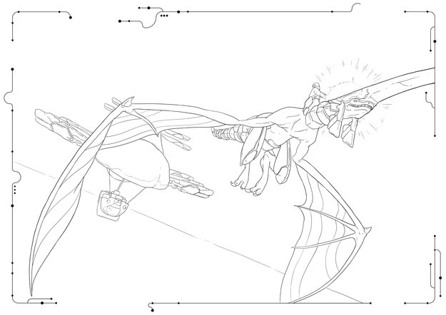 Panzer Dragoon: Remake Colouring Picture