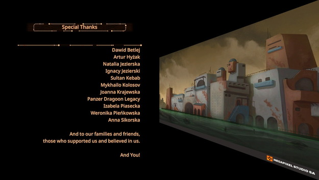 Panzer Dragoon: Remake End Credits: Special Thanks