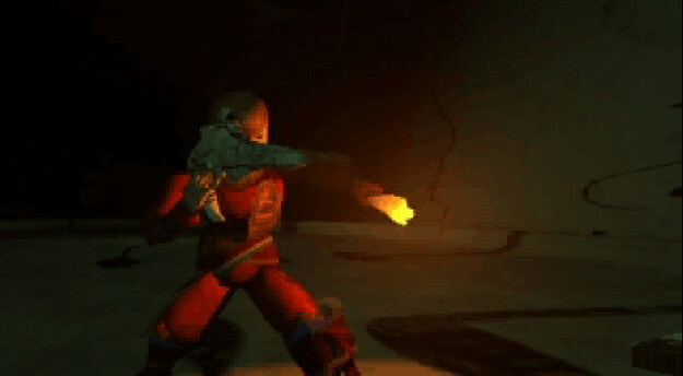 Panzer Dragoon Saga Cutscene Screenshot: Into the Underground Ruins