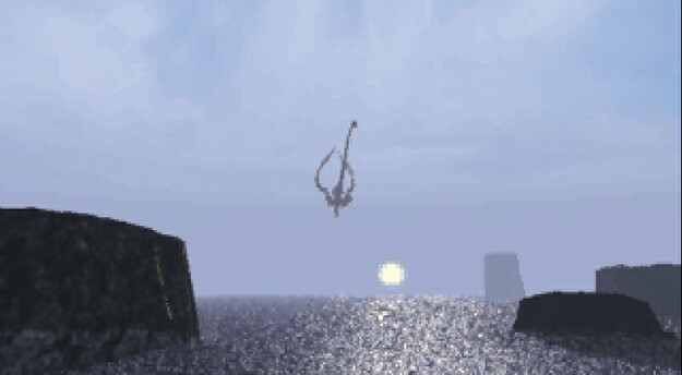 Panzer Dragoon Saga Cutscene Screenshot: Azel Leaves