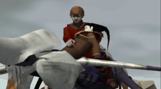 Panzer Dragoon Saga Cutscene Screenshot: Atolm's Death and Destruction of Zoah