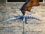 Blue Dragon and Kyle Fluge Sculpture