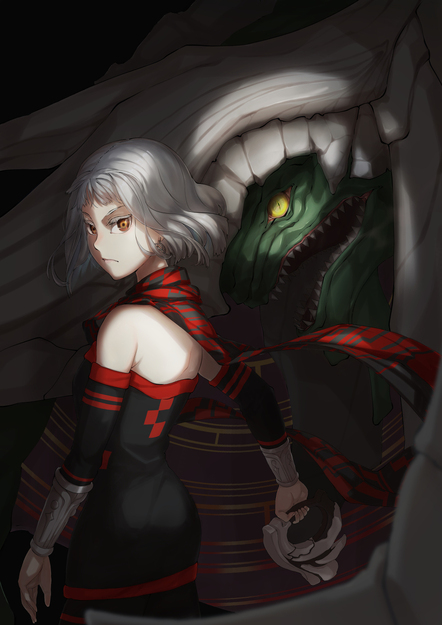 Orta and Her Dragon in the Shadows