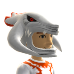 Xbox Live Avatar - White Reaver Helmet Close Up