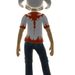 Xbox Live Avatar - White Reaver Helmet and T-Shirt Back View