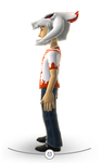 Xbox Live Avatar - White Reaver Helmet and T-Shirt Left Side View