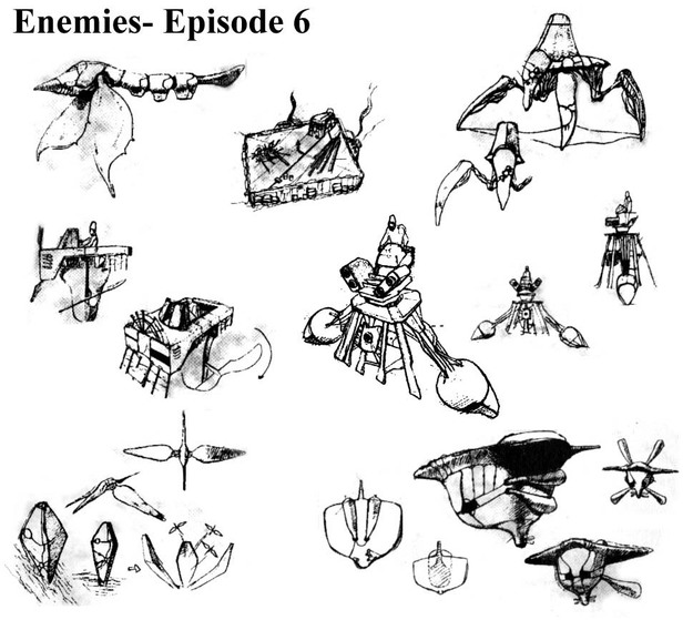 Panzer Dragoon Episode 6 Enemies