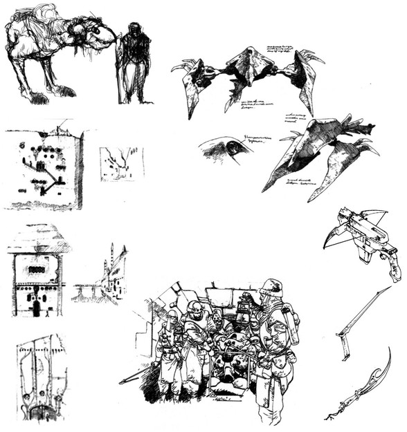 Panzer Dragoon II Zwei Sketches
